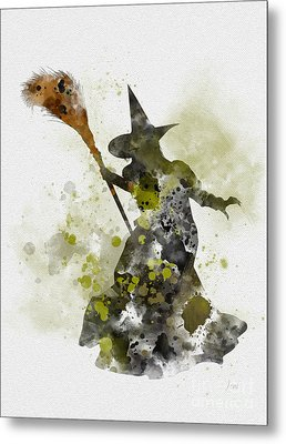 Wicked Witch Of The West Metal Print by Rebecca Jenkins