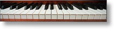 Wide Piano Keyboard Metal Print by Garry Gay