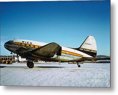 Wien Alaska Airlines Curtiss-wright Cw-20 N1548v Metal Print by Wernher Krutein