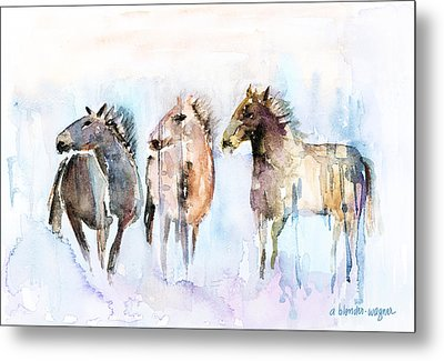 Wild And Free Metal Print by Arline Wagner