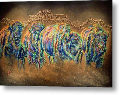 Wild And Free Metal Print by Teshia Art