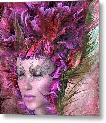 Wild Flower Goddess Metal Print by Carol Cavalaris