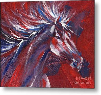 Wild Horse Bust Metal Print by Summer Celeste
