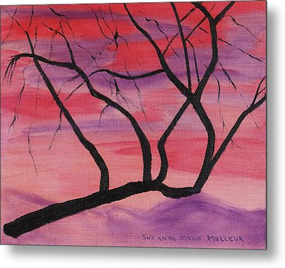Wild Sky And Tree Metal Print by Suzanne  Marie Leclair