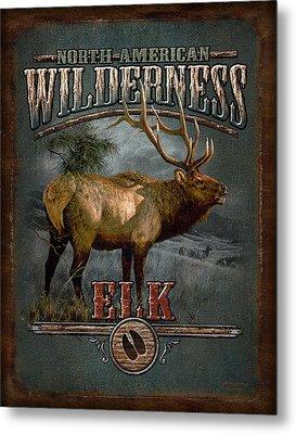 Wilderness Elk Metal Print by JQ Licensing