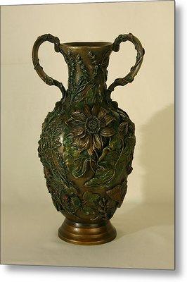 Wildflower Vase Balsamroot Side Metal Print by Dawn Senior-Trask