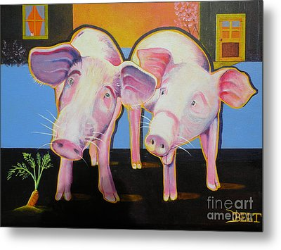 Wiley And  Mut Metal Print by Christine Belt