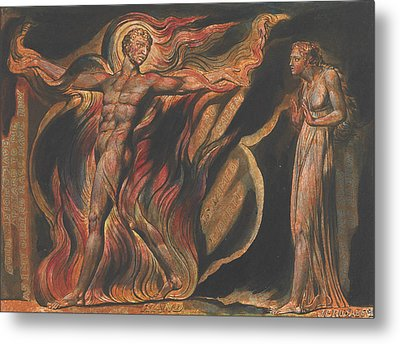 Jerusalem, Plate 26, Such Visions Have.... Metal Print by William Blake
