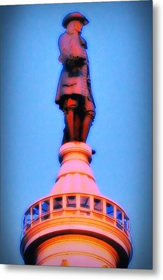 William Penn - City Hall In Philadelphia Metal Print by Bill Cannon