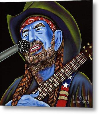 Willie Metal Print by Nannette Harris