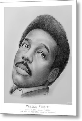 Wilson Pickett Metal Print by Greg Joens