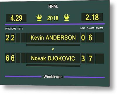Wimbledon Scoreboard - Customizable Metal Print by Carlos Vieira