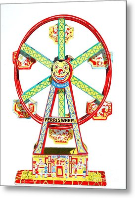 Wind-up Ferris Wheel Metal Print by Glenda Zuckerman