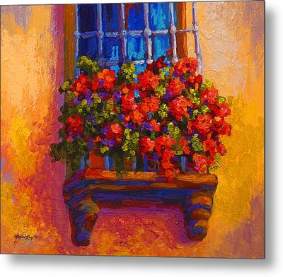 Window Box  Metal Print by Marion Rose