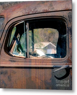 Window In Rural America  Metal Print by Steven  Digman