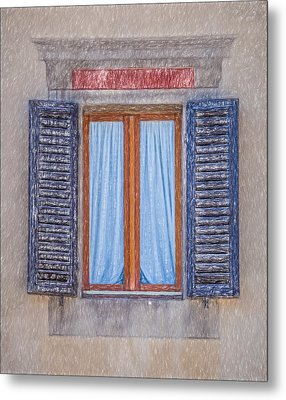 Window Sketch Of Tuscany Metal Print by David Letts