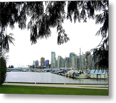 Window To The Harbor Metal Print by Will Borden