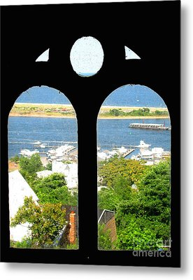 Window View Metal Print by Colleen Kammerer