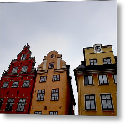 Windows On Gamla Stan Metal Print by Linda Woods