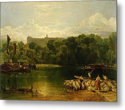 Windsor Castle From The Thames Metal Print by Joseph Mallord William Turner
