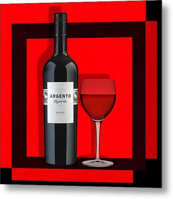 Wine Anyone-1 Metal Print by Nina Bradica