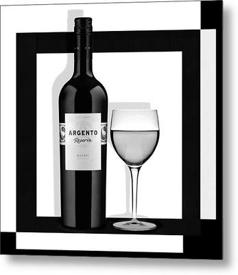 Wine Anyone Metal Print by Nina Bradica