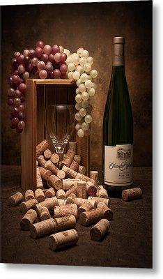 Wine Corks Still Life II Metal Print by Tom Mc Nemar