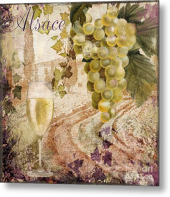 Wine Country Alsace Metal Print by Mindy Sommers