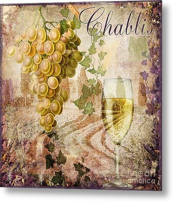 Wine Country Chablis Metal Print by Mindy Sommers