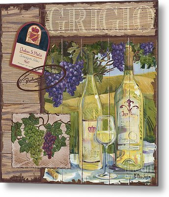 Wine Country Collage II Metal Print by Paul Brent