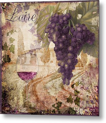 Wine Country Loire Metal Print by Mindy Sommers