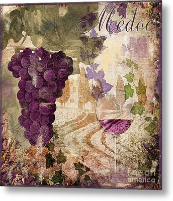 Wine Country Medoc Metal Print by Mindy Sommers