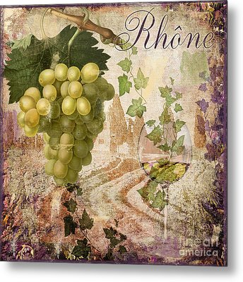 Wine Country Rhone Metal Print by Mindy Sommers