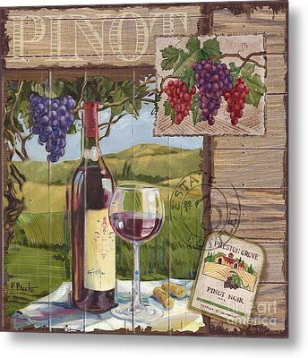 Wine County Collage I Metal Print by Paul Brent