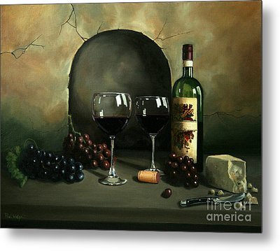 Wine For Two Metal Print by Paul Walsh