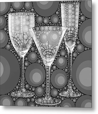 Wine Glass Art-2 Metal Print by Nina Bradica