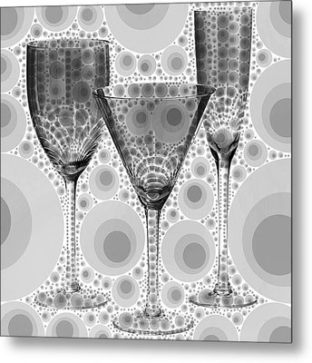 Wine Glass Art-3 Metal Print by Nina Bradica