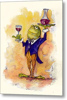 Wine Steward Toady Metal Print by Peggy Wilson