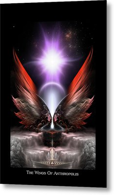 Wings Of Anthropolis Hc Fractal Composition Metal Print by Xzendor7