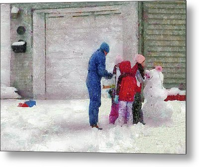Winter - Re-constructive Surgery Metal Print by Mike Savad