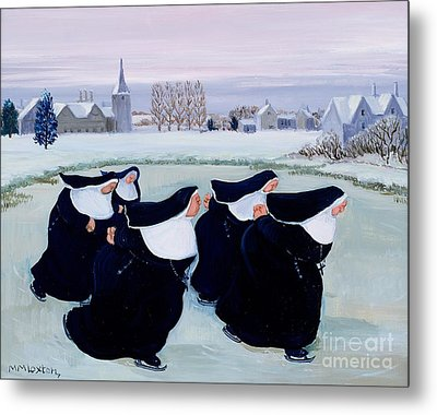 Winter At The Convent Metal Print by Margaret Loxton