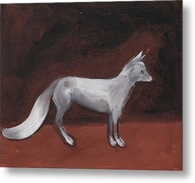 Winter Fox Metal Print by Sophy White