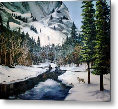 Winter Half Dome Metal Print by Beverly Johnson