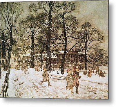 Winter In Kensington Gardens Metal Print by Arthur Rackham