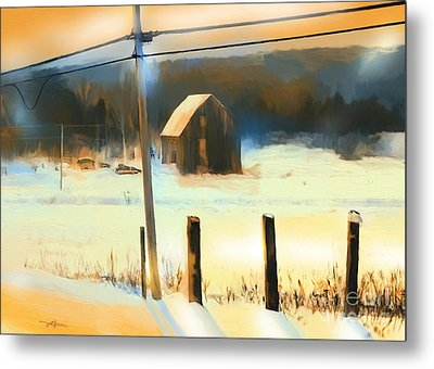 Winter In Powassan Ont. Metal Print by Bob Salo