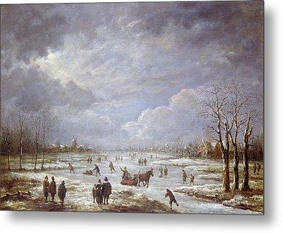 Winter Landscape Metal Print by Aert van der Neer