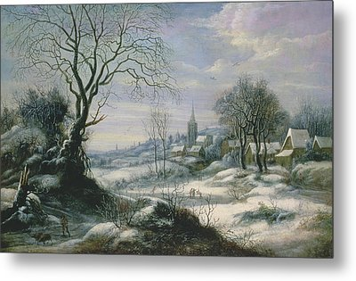 Winter Landscape Metal Print by Daniel van Heil