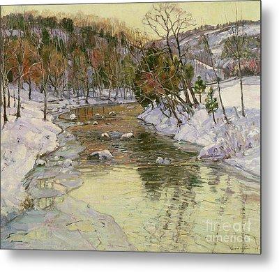 Winter Landscape Metal Print by George Gardner Symons