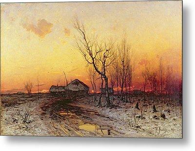 Winter Landscape Metal Print by Julius Sergius Klever
