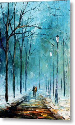 Winter Metal Print by Leonid Afremov
